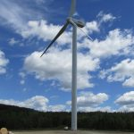 photo of wind turbine at the oakfield wind project
