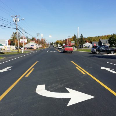 photo of west broadway/route 2 road widening project